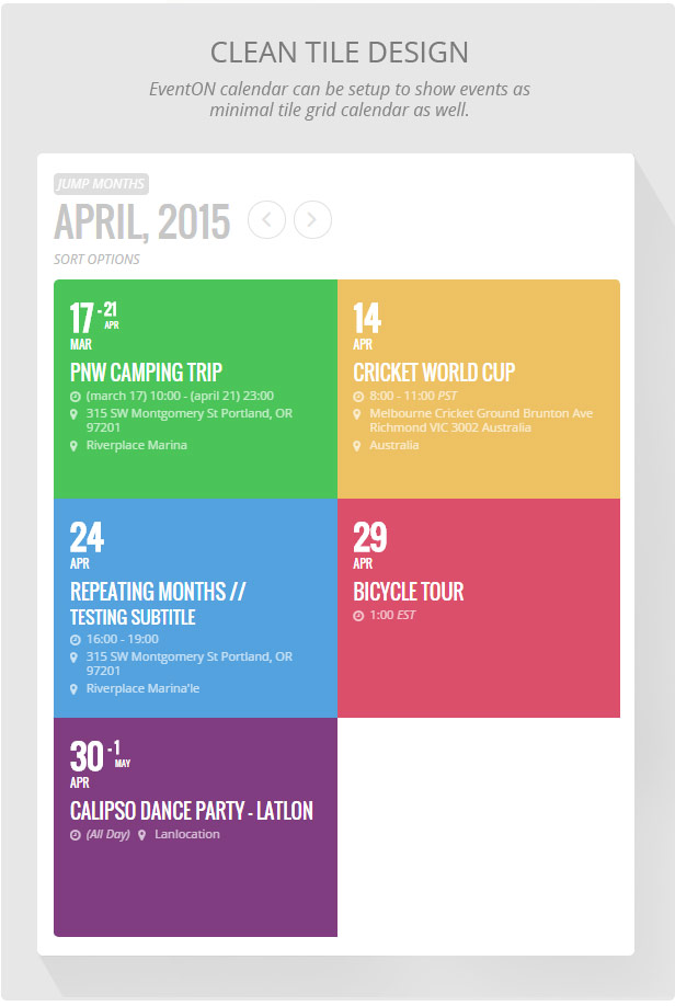 EventOn - WordPress Event Calendar Plugin - WordPress